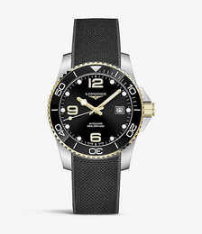 L37813569 Hydroconquest stainless steel and rubber automatic watch