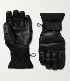 Logo-Appliquéd Quilted Nylon, Neoprene and Leather Down Ski Gloves