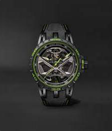 Excalibur Spider Huracán Grey Tech Automatic 45mm Titanium and Rubber Watch
