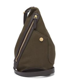 Drop canvas & leather cross-body bag