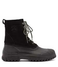 Anatra suede and rubber boots