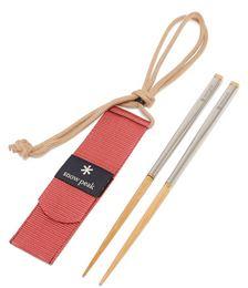 Wabuki stainless steel and bamboo chopsticks