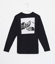 The North Face Mountain Graphic long-sleeved T-shirt in black Exclusive to ASOS