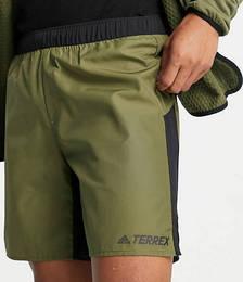 adidas Terrex trail shorts in khaki