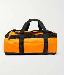 Logo-Print Coated-Shell Duffle Bag