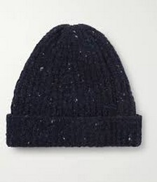 Ribbed Donegal Merino Wool and Cashmere-Blend Beanie