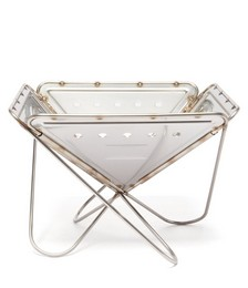 Pack & Carry stainless steel fireplace