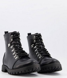 Truffle Collection hiker boots in black