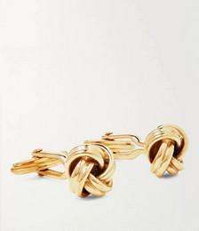 Knot Gold-Plated Cufflinks