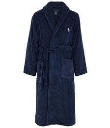 Navy terry cotton robe