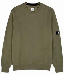 Diagonal Raised army green cotton sweatshirt