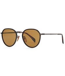 1010 black oval-frame sunglasses