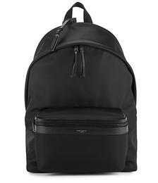 City black nylon backpack