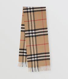 Classic-check cashmere scarf