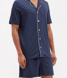 Basel piped-trim modal-blend pyjamas