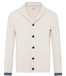 FULLERS  CABLE SHAWL CARDIGAN