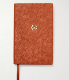 Smythson Panama Cross-Grain Leather Notebook