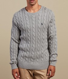 Drive Cable Knit Long Sleeve Sweater