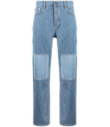 patchwork-effect jeans