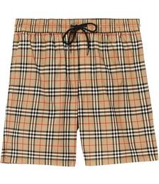 Vintage Check print swim shorts