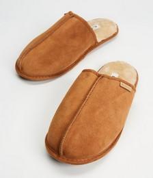 Hyatt Cowskin Mule Slippers - Men's