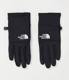Etip recycled white logo glove in black