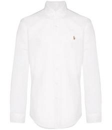 logo-embroidered long-sleeve shirt