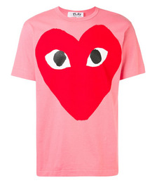 oversized heart print T-shirt