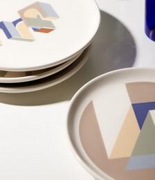 X Adriana Jaros set of four Bilancia plates