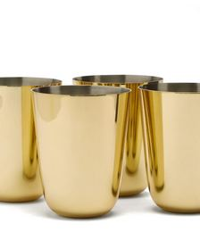 Set of four Fausto gold-plated julep cups