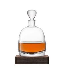 Whisky Islay Decanter & Walnut Base