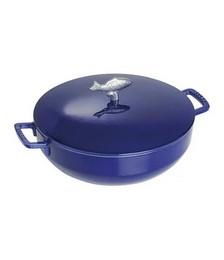 Dark Blue Bouillabaisse Pot - 28cm