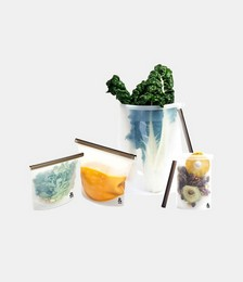 Silicone Fresh Food Pouch - Set of 4