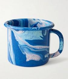 Large Marbled Enamelware Mug