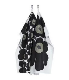 Unikko Tea Towel - Pack of 2 - White/Black