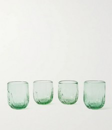 Cactus Set of Four Recycled Glass Cups