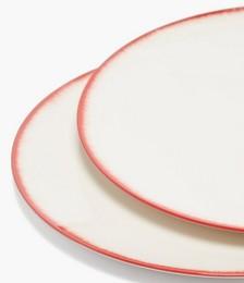 X Ann Demeulemeester set of two porcelain plates