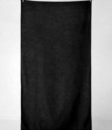 VINTAGE LINEN TABLECLOTH - BLACK