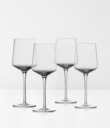 ROCKS RED WINE CRYSTAL GLASSES SET OF 4