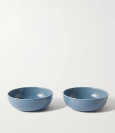 Set of Two Large Bilancia Glazed Ceramic Bowls
