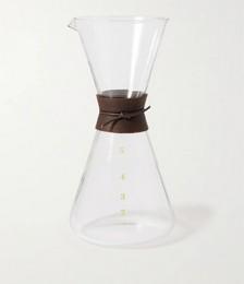 Koizumi Glass Minowa 2-Chome Glass and Leather Coffee Pot