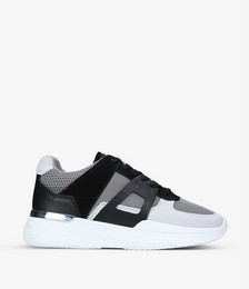 Marquesse leather and textile trainers