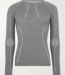 Stretch Virgin Wool-Blend Base Layer