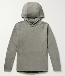 At Ease Mélange Waffle-Knit Cotton-Blend Hoodie