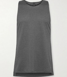 Printed Perforated Stretch Nylon-Blend Tank Top