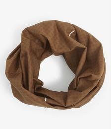 Seamless woven-blend neck warmer