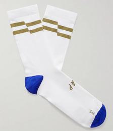 Emblem Striped Meryl Skinlife Stretch-Knit Cycling Socks