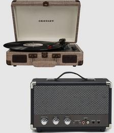 Cruiser Bluetooth Portable Turntable -Bundled Portable Bluetooth Speaker