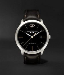 1966 Infinity Edition Automatic 40mm Stainless Steel and Leather Watch, Ref. No. 49555-11-632-BB60