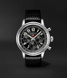 Mille Miglia Classic Chronograph Automatic 42mm Stainless Steel and Rubber Watch, Ref. No. 168589-3002
